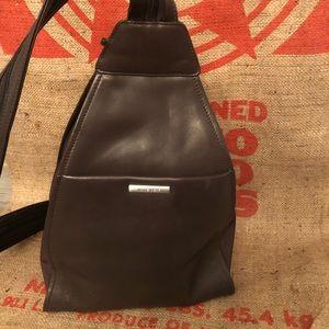 Handbags - Nine West Brown Leather Backpack